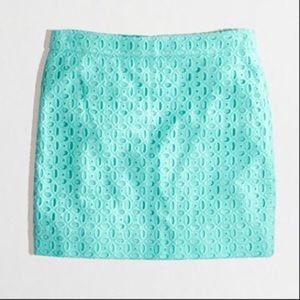 J Crew Tiffany Blue eyelet skirt